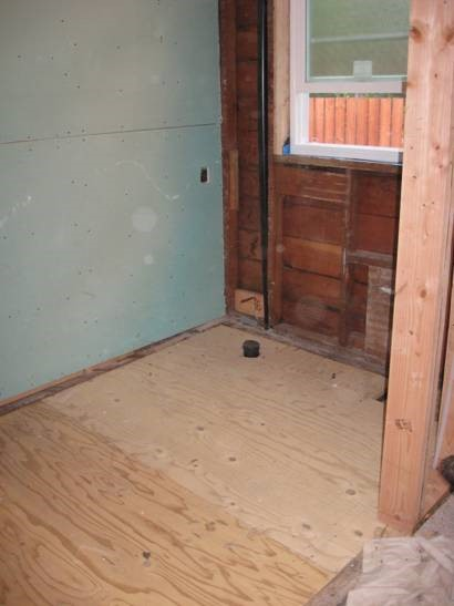 Bathroom Sub Flooring Replacement