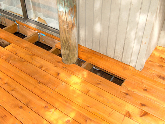 Cedar Deck Cut Around a Tree