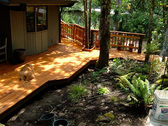 Finished Cedar Deck Construction