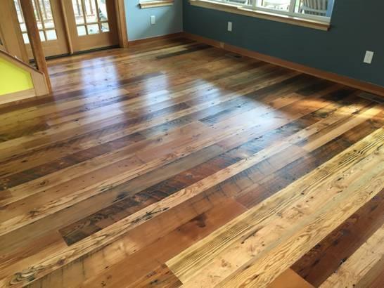Custom and Repurposed Wood Floor