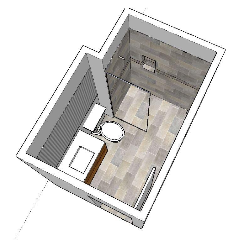 Bathroom Remodeling Sketch for Eugene job