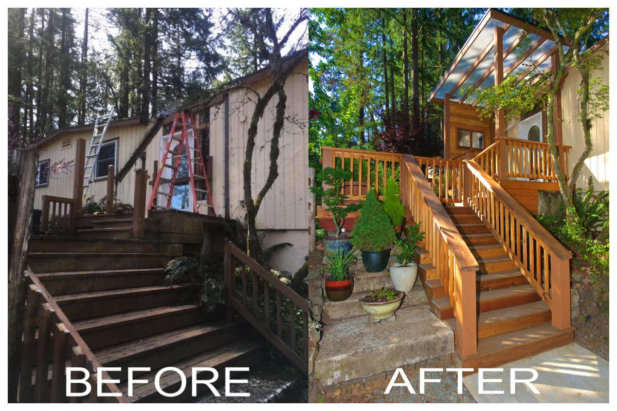 New Deck Contractor Before After