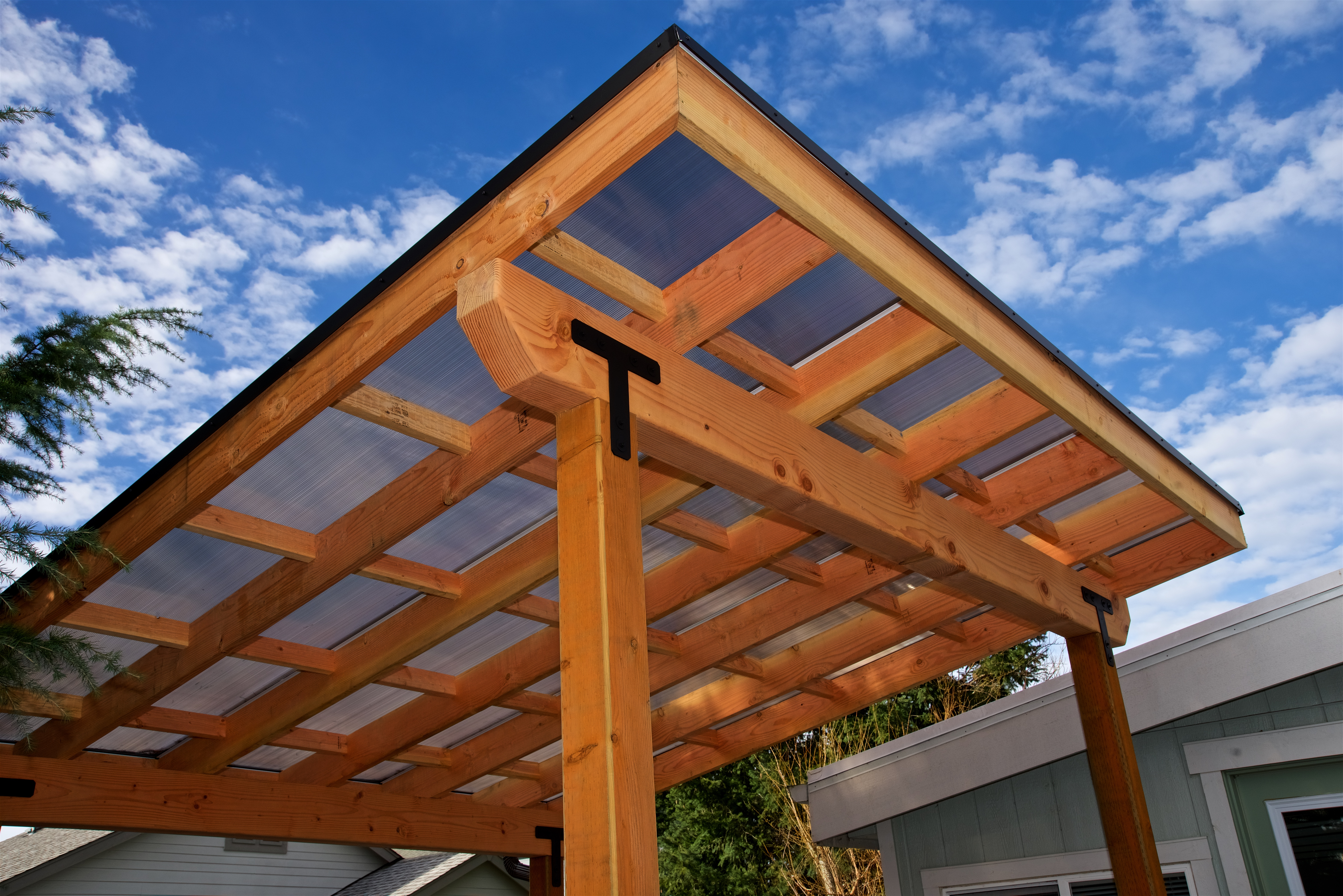 Twinwall Roof on New Deck
