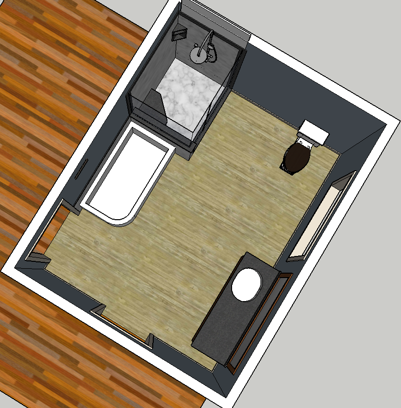 Sketch for Bathroom Remodeling in Creswell